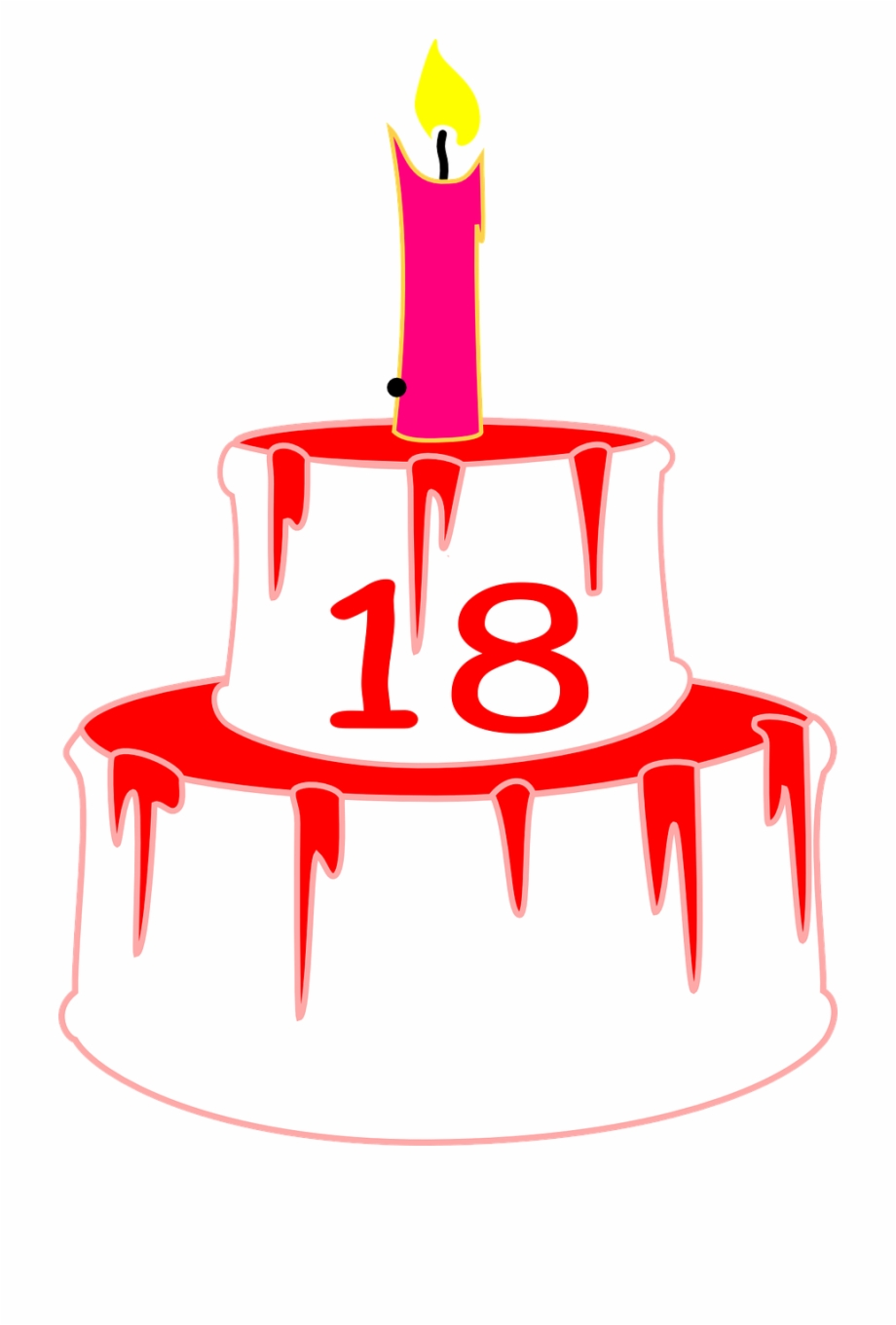 18th Birthday Cake Png Free PNG Images & Clipart Download #4855563 ... jpg black and white download