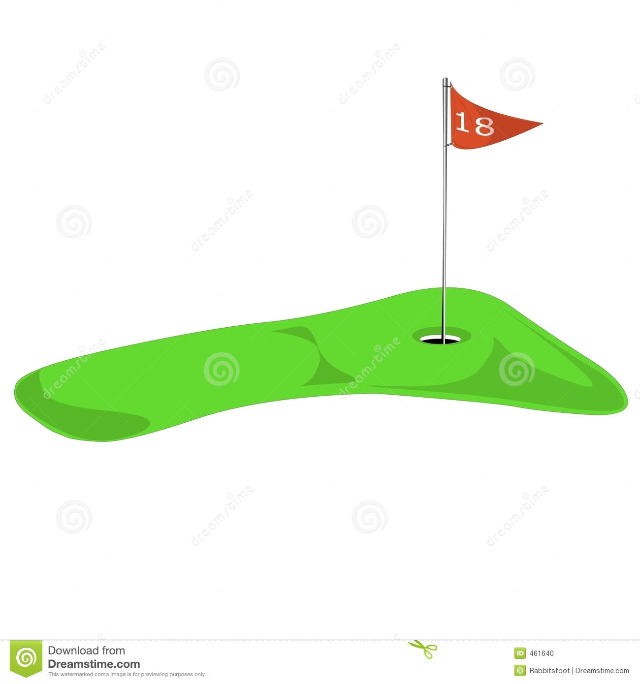 18th flag clipart transparent library Golf green with flag on 18th   Clipart Panda - Free Clipart Images transparent library