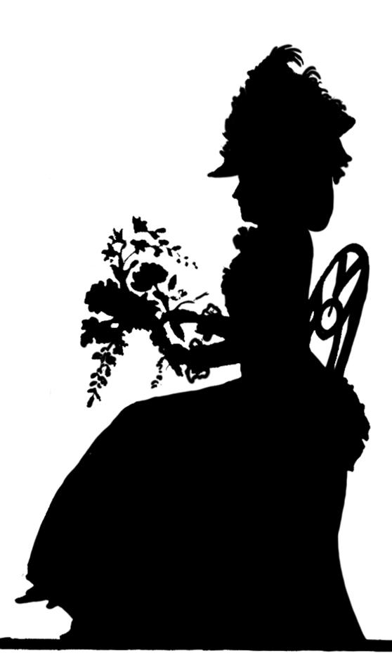 19 century women clipart image transparent stock Victorian Silhouette Clipart image transparent stock