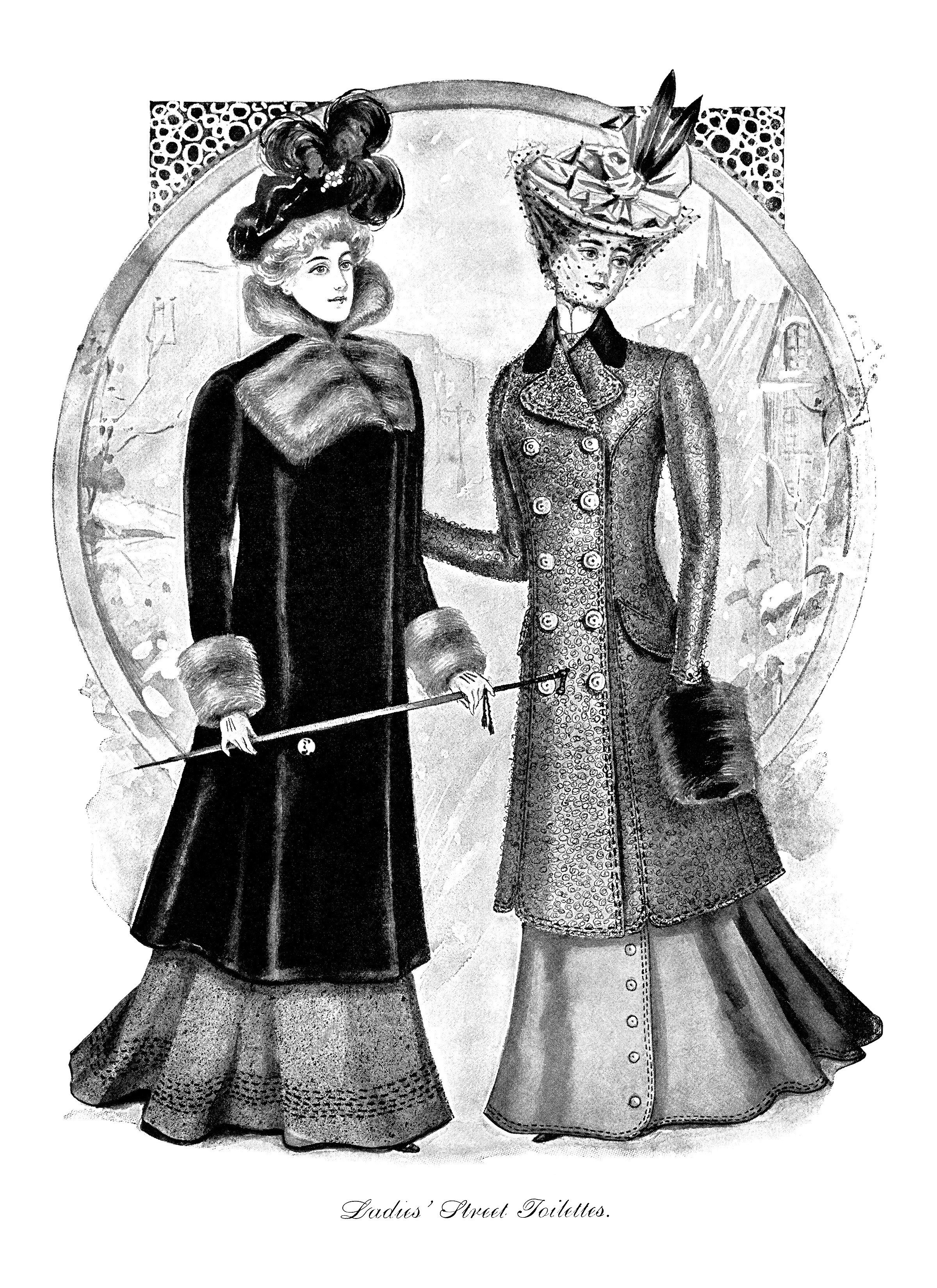 1900s woman in dress clipart black and white banner freeuse download Victorian fashion illustration, Victorian lady, black and white clip ... banner freeuse download
