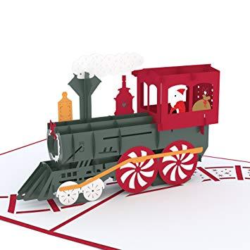 1915 train free clipart svg transparent Lovepop Santa Train Pop Up Card, 3D Card, Christmas Card, Holiday Card,  Santa Card svg transparent