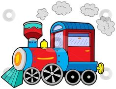 1915 train free clipart