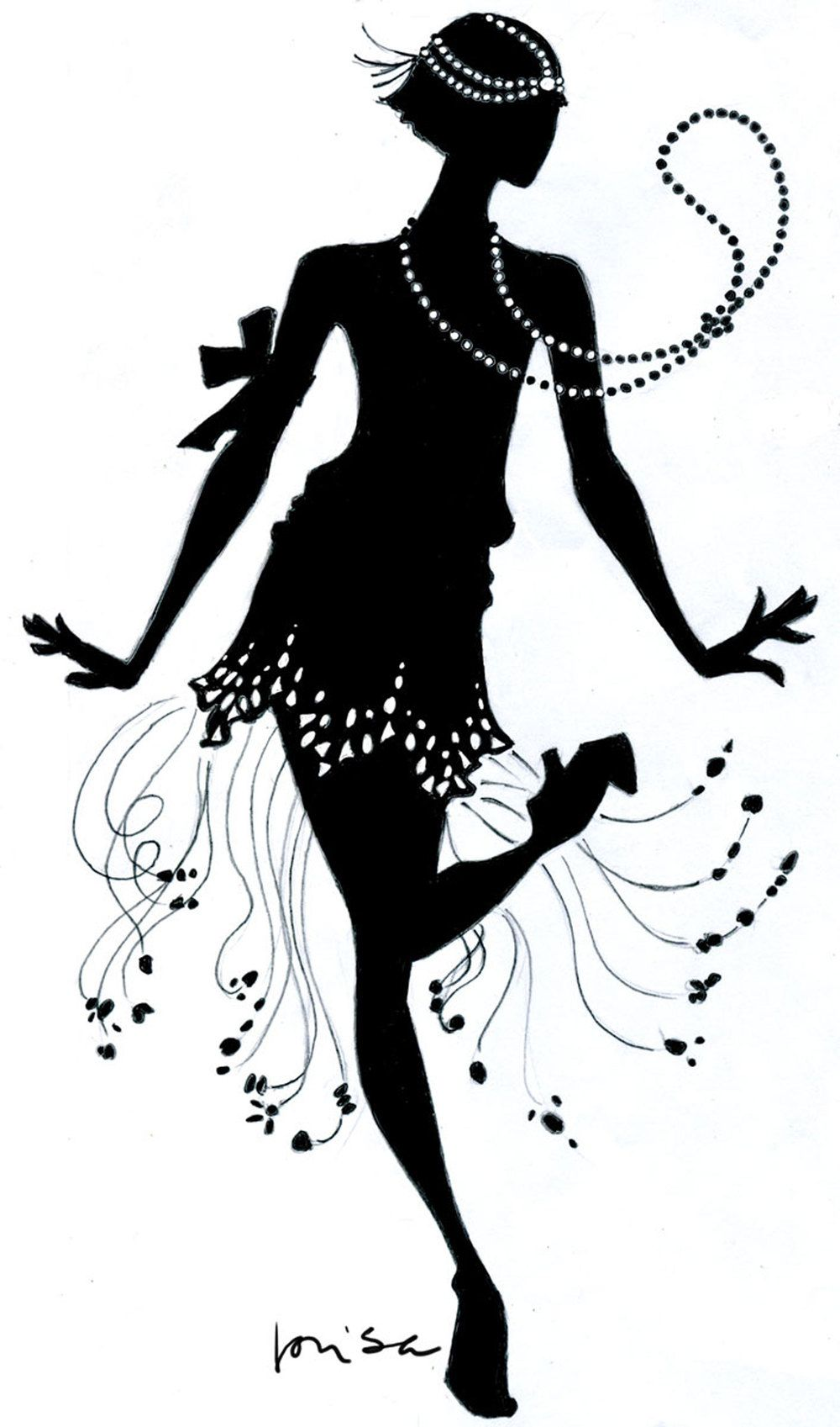 Flapper silhouette clipart picture library library Download Flapper Dance Clipart | clip art | Dancing clipart, Dancing ... picture library library