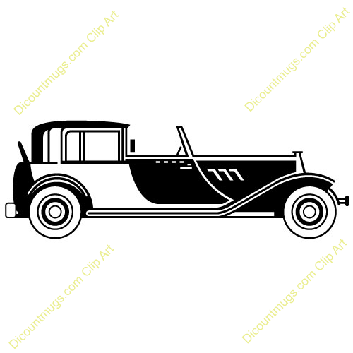 1920s design clipart graphic download Clipart 10500 V-46 - 1920s Classic Car mugs, t-shirts, picture mouse ... graphic download