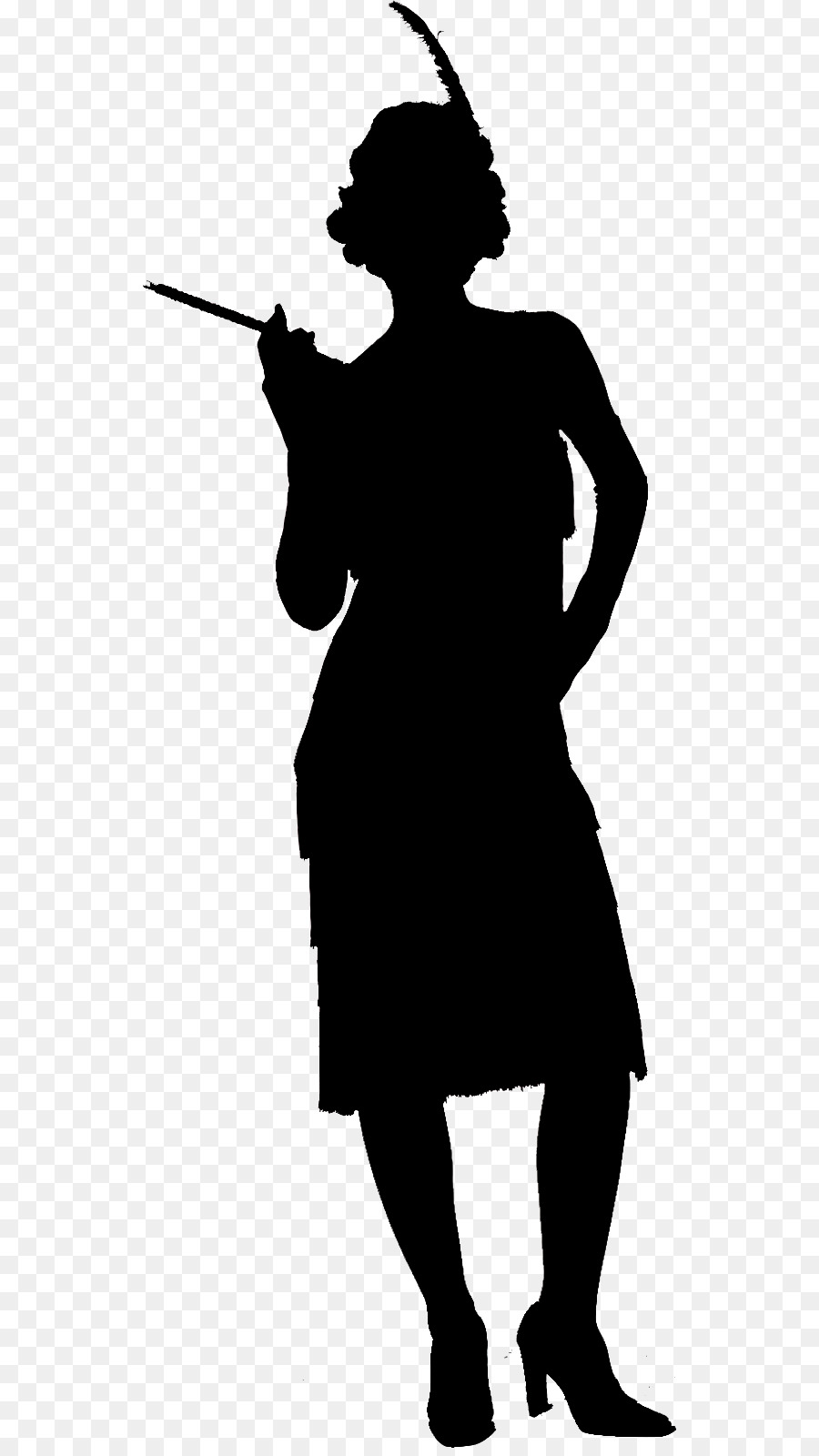 1920 s woman black and white clipart banner transparent stock Woman Cartoon clipart - Fashion, Woman, Black, transparent clip art banner transparent stock