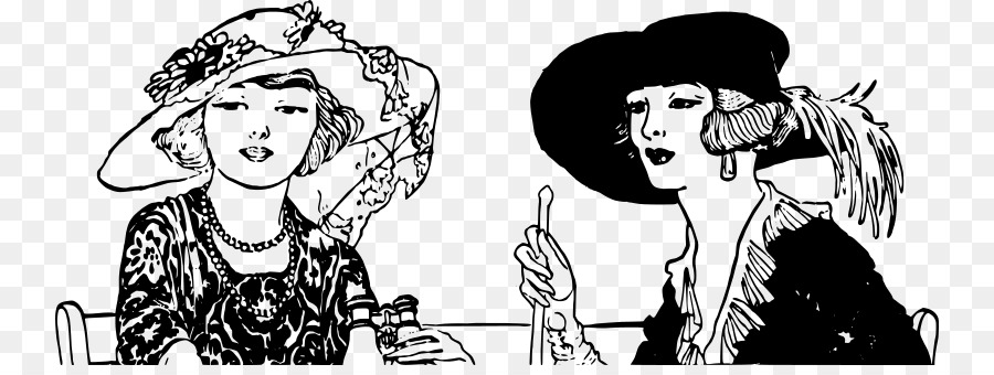 1920 s woman black and white clipart png transparent stock 1920s Computer Icons Clip art - 1920s Champagne png download - 800 ... png transparent stock