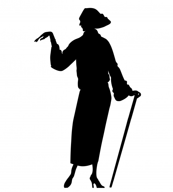 1920 s woman black and white clipart jpg Woman Silhouette Clipart 1920s Free Stock Photo - Public Domain Pictures jpg