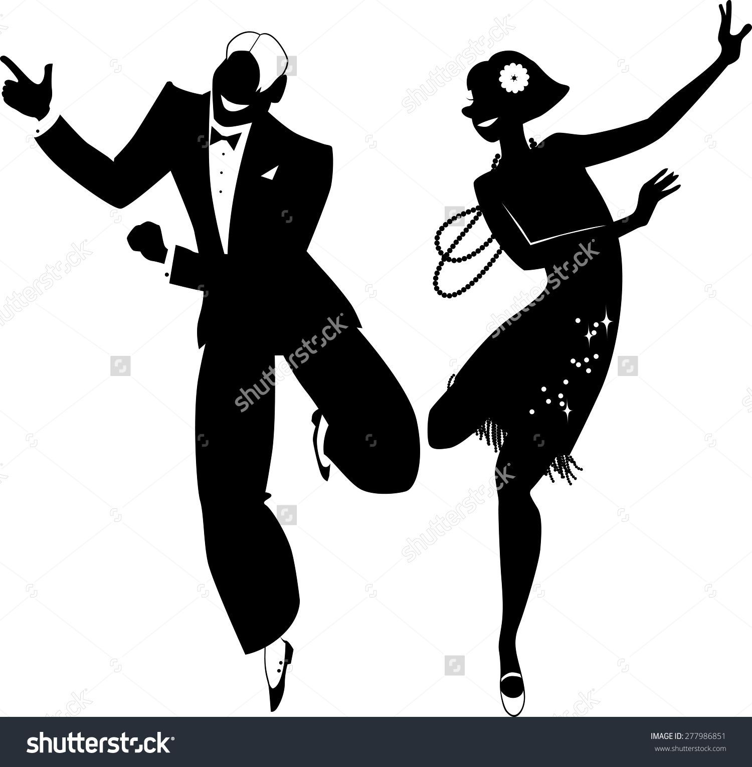 Peace love music dance cartoon clipart black and white vector free library 1920\'s man dancing - Google Search | Tattoo | Dance silhouette ... vector free library