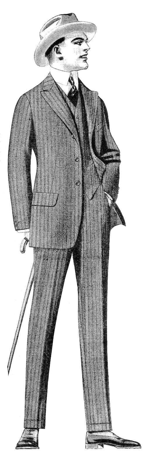 1920s man clipart clip royalty free download Intage Men\'s Fashion Clip Art Vintage Men\'s Suits from 1915 Clothes ... clip royalty free download
