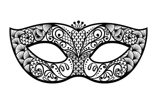 Mask clipart image clip art royalty free Mardi gras mask clipart black and white - ClipartFest | Tatts ... clip art royalty free