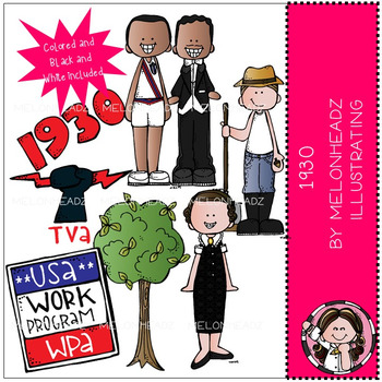 1930 clipart black and white png download 1930 clip art - COMBO PACK - Melonheadz clipart png download