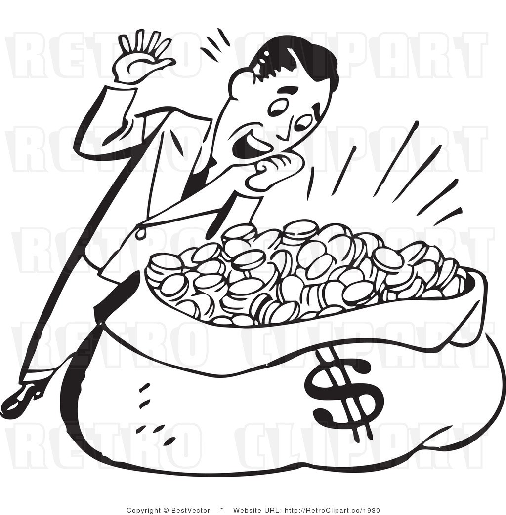 1930 clipart black and white vector library library Money clipart black and white 3 » Clipart Portal vector library library