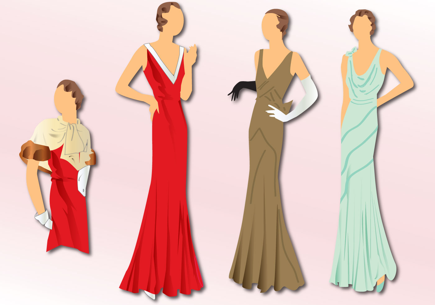 1930 s fashion clipart image free stock Party Makeup Free Vector Art - (41 Free Downloads) image free stock
