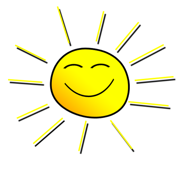 A smiling sun black and white clipart royalty free library Smiling Sunshine Clipart royalty free library