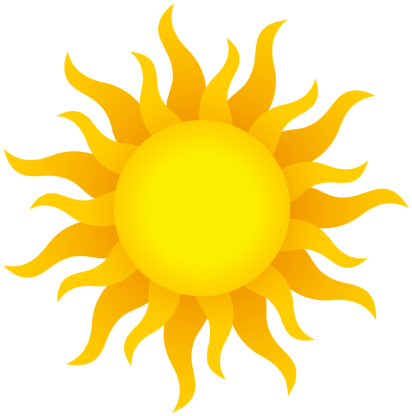 Solid sun clipart