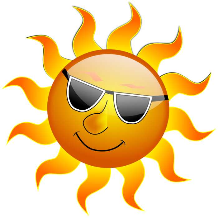 Clipart of sun wearing glasses vector black and white Sun Clipart - Graphics of Suns & Sunny Weather vector black and white