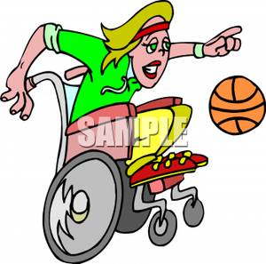 1940 basketball clipart png transparent stock A Girl In a Wheelchair Dribbling a Basketball - Royalty Free Clipart ... png transparent stock