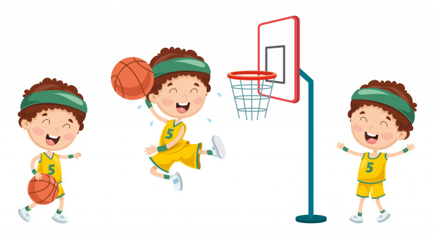 1940 basketball clipart jpg freeuse Illustration of kid playing basketball Vector | Premium Download jpg freeuse