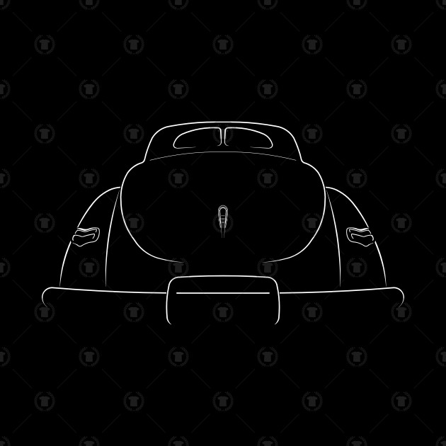 1940 ford deluxe coupe clipart vector free download 1940 Ford Deluxe Coupe - Rear stencil vector free download