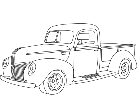 1940 ford deluxe coupe clipart clip library library 1940 Ford Pickup coloring page | Free Printable Coloring Pages clip library library