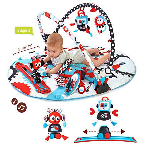 1940 s baby stuff clipart clip art transparent Yookidoo Baby Gym and Play Mat - 3 Stage Accessory Gym with Motorized Robot  Track - 20 Development Activities - Age 0-12 Months clip art transparent