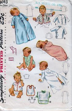 1940 s baby stuff clipart clip download 65 Best Vintage Sewing Patterns 1940\'s & 1950\'s - Girls images in ... clip download