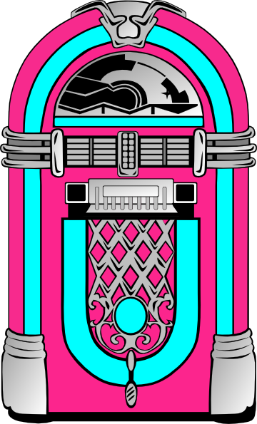 Record player and juke box clipart 50 s clip art black and white library Jukebox Clipart - ClipArt Best | Music | Sock hop party, Diner party ... clip art black and white library