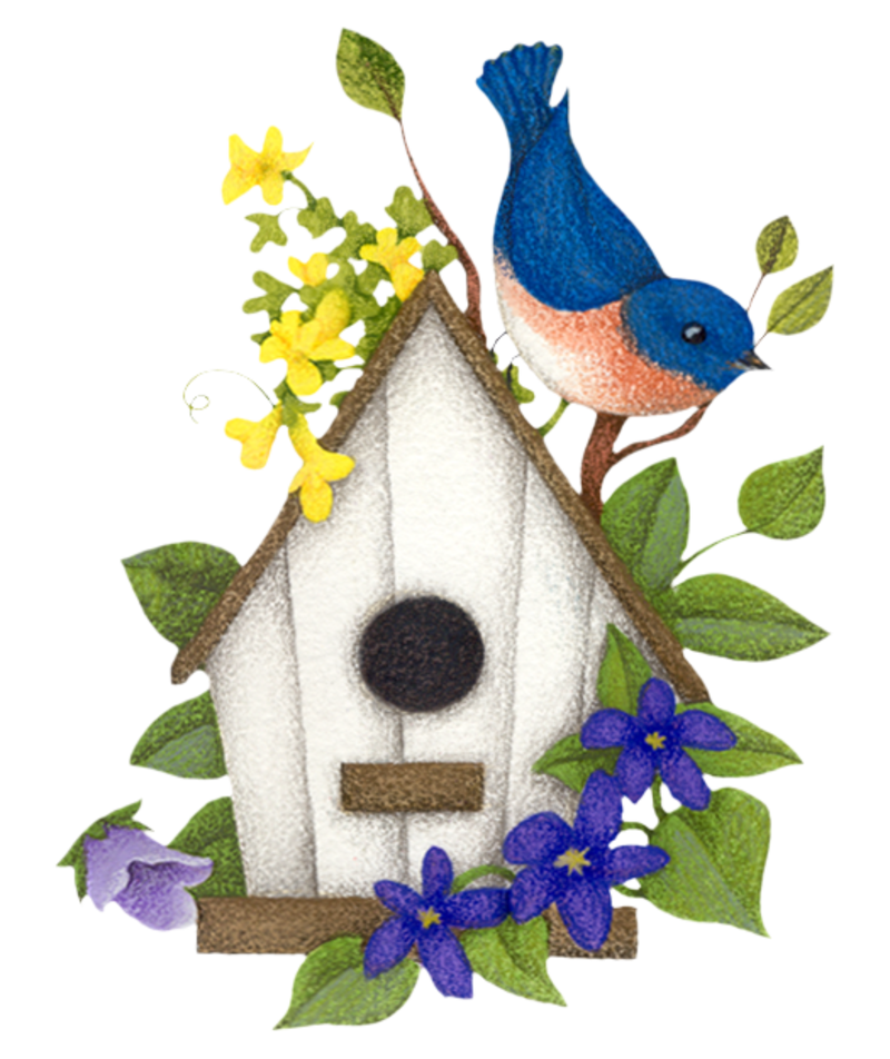 1950 cottage house clipart banner library download 2ff573b2.png | Applique | Pinterest | Bird houses, Bird and Birdhouse banner library download