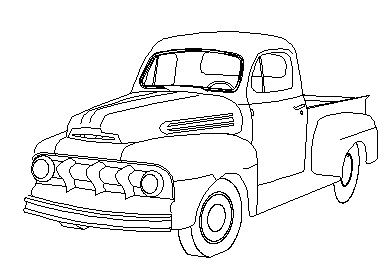 1950 ford truck clipart freeuse stock A drawing of a 49 F1 - Ford Truck Enthusiasts Forums | art | Ford ... freeuse stock