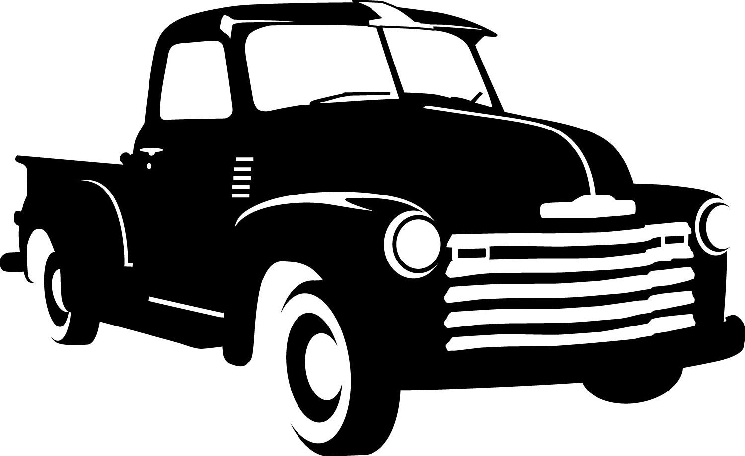 1950 ford truck clipart clipart free stock 1950 Chevy Decal. $7.00, via Etsy. | Nursery | Truck decals, Stencil ... clipart free stock