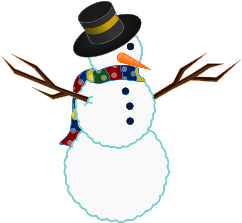 1950 s snowman clipart no background image black and white Free Vintage Snowman Images, Download Free Clip Art, Free Clip Art ... image black and white