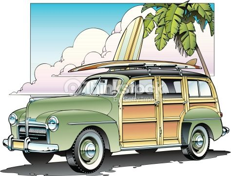 1950 surf clipart svg library library Woody and surfboard | Picture an cards | Woody wagon, Woody, Surfboard svg library library