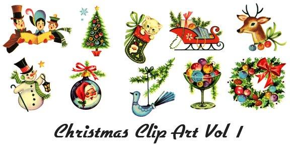 Victorian xmas free clipart