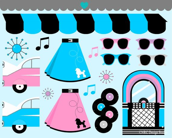 50s party clipart stock Free 50S Theme Cliparts, Download Free Clip Art, Free Clip Art on ... stock