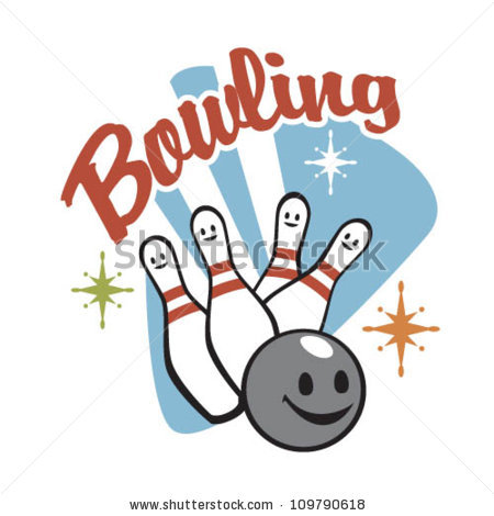 1950-s bowling clipart free graphic freeuse library Vintage Bowling Clipart graphic freeuse library