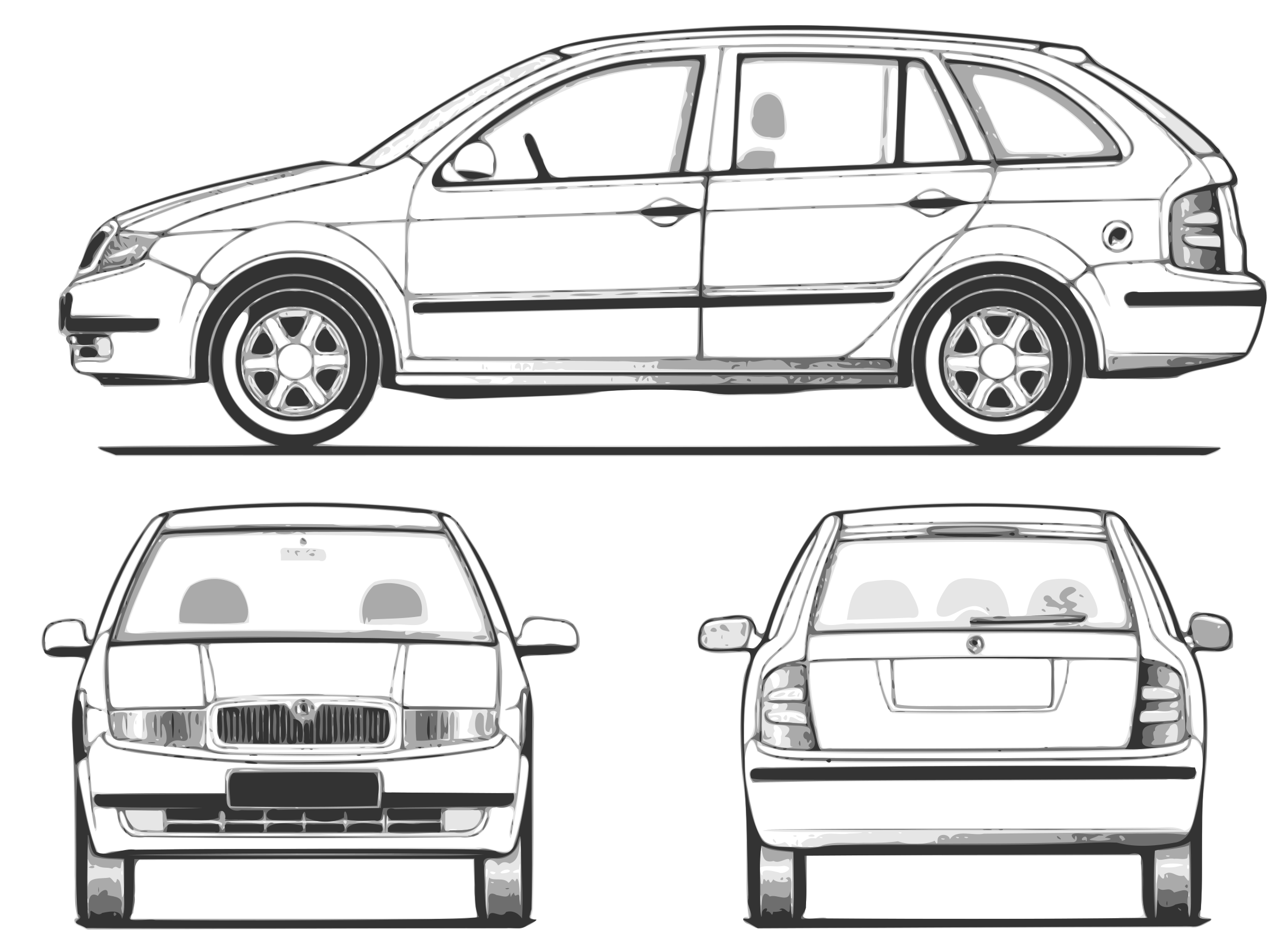 Supernatural car clipart graphic library download Clipart - fabia - all views graphic library download