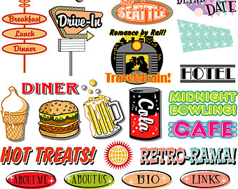 s etsy fifties. 1950s clipart