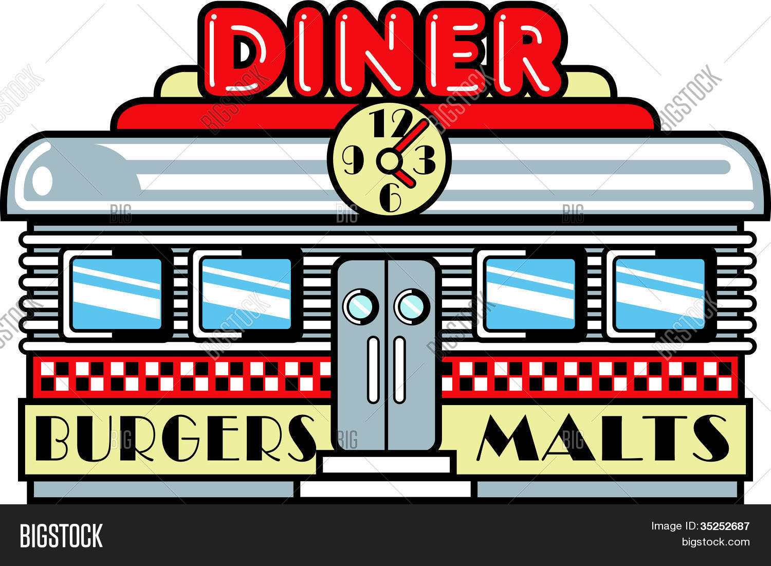 s diner clipartfest. 1950s clipart
