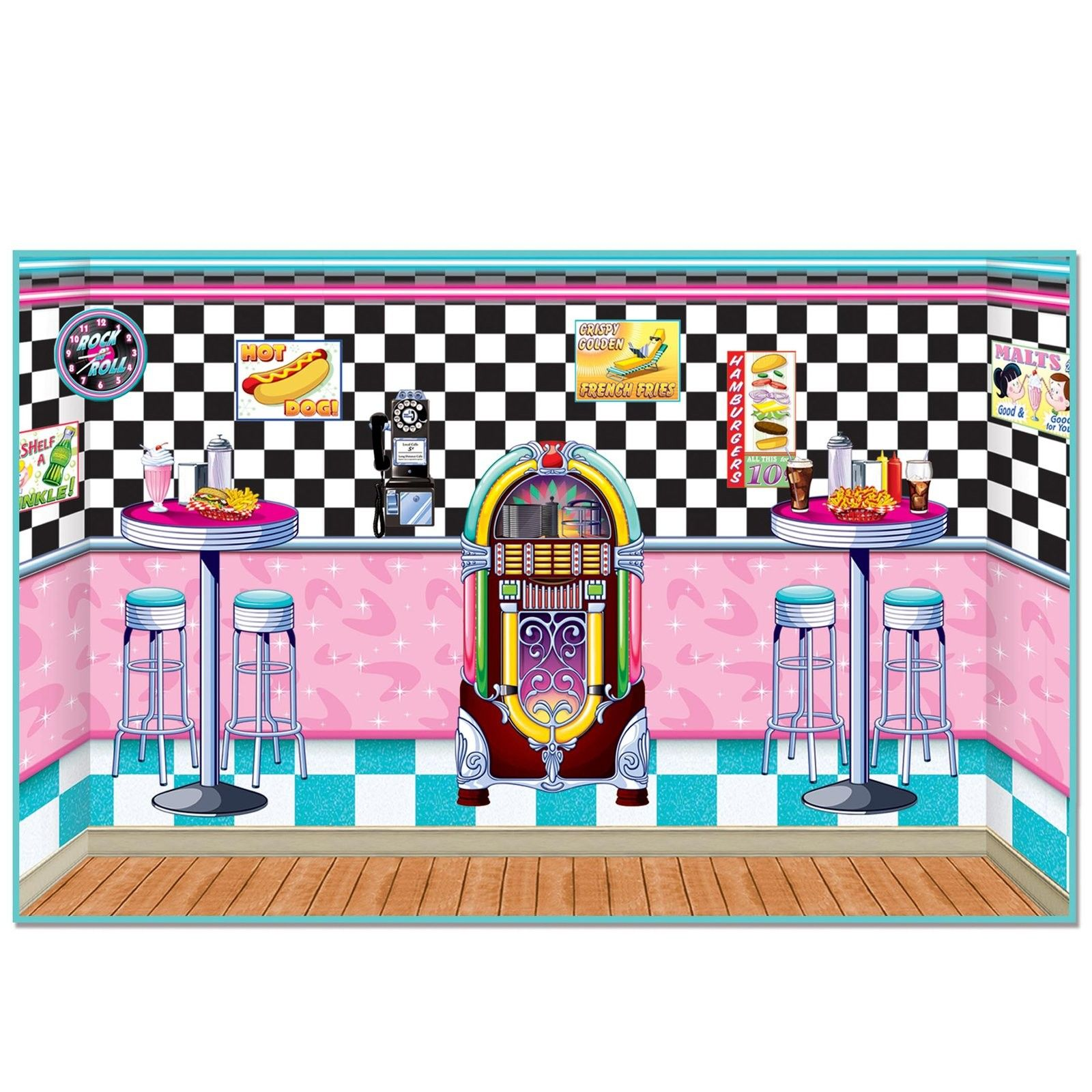 50-s soda shop clipart