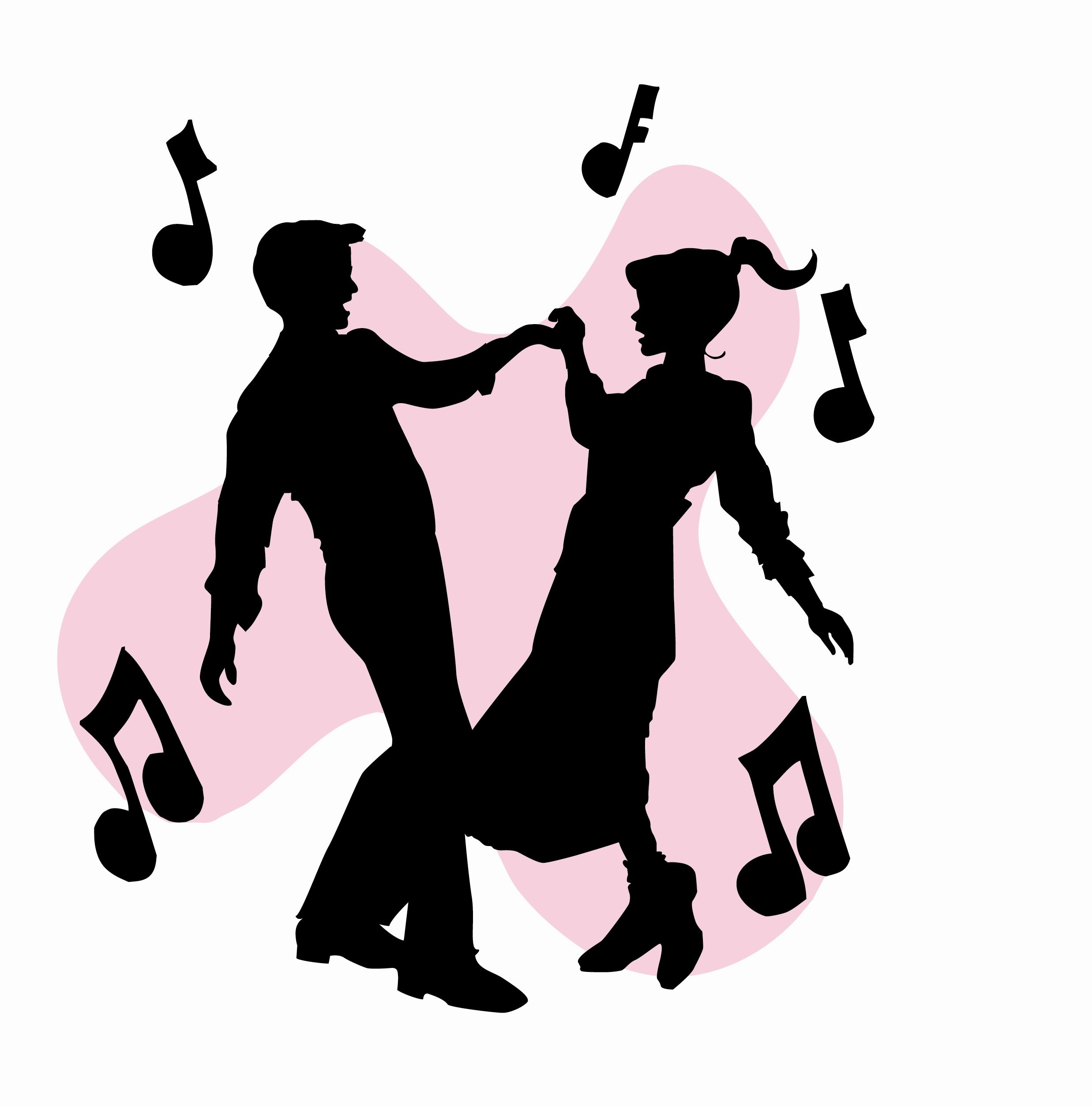 1950s dancing clipart banner transparent download 50s Sock Hop Dancers Silhouettes Clipart | Homecoming Ideas | Sock ... banner transparent download