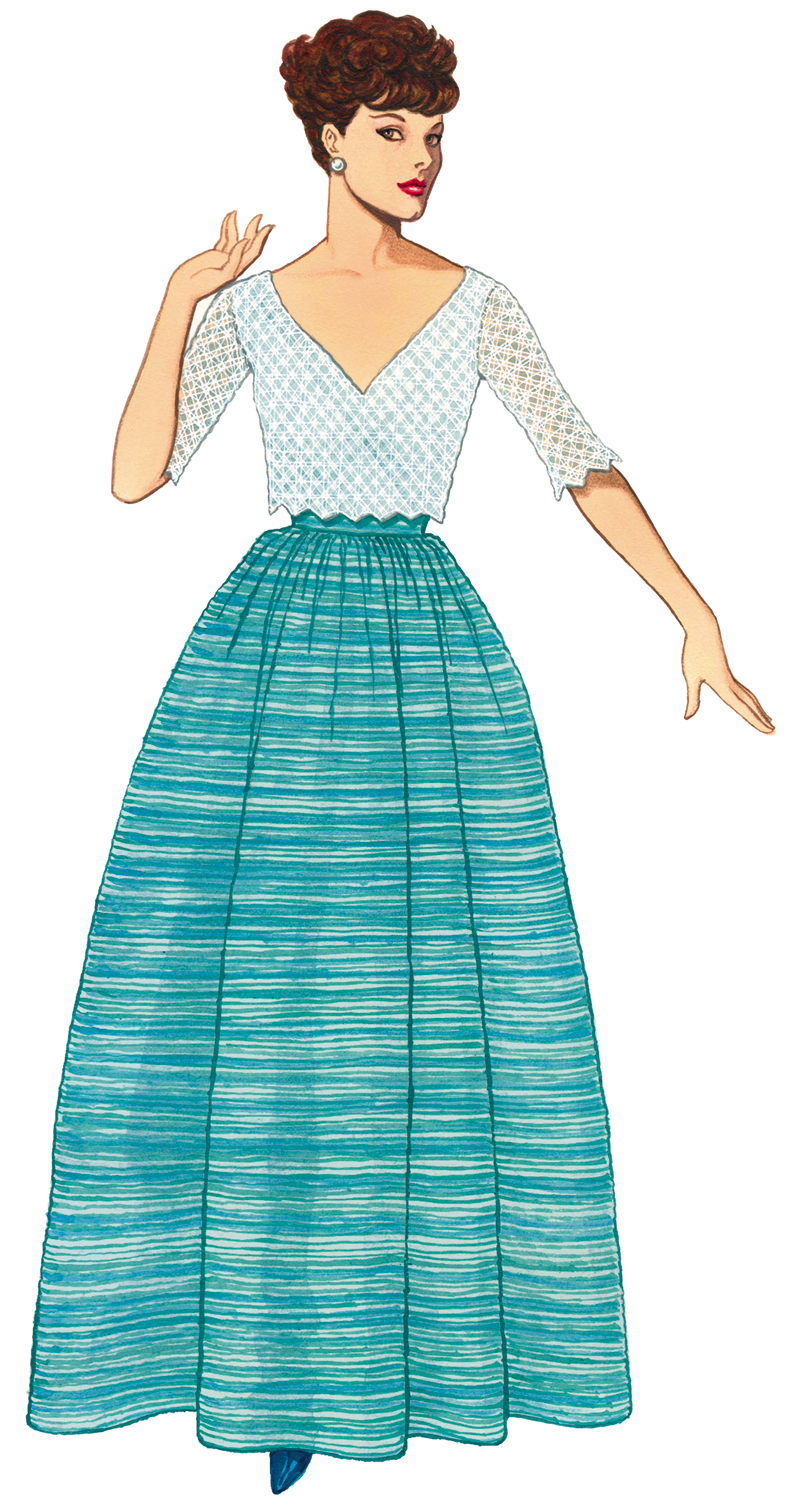 1950s dress on form clipart vector freeuse download Free Graphic of the Day   clipart   Paper dolls, Drawing templates ... vector freeuse download