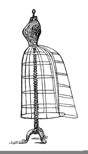 1950s dress on form clipart image royalty free stock Vintage Dress Form Clipart   Free Images at Clker.com - vector clip ... image royalty free stock