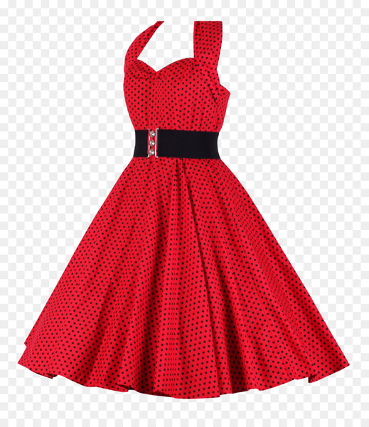 1950s dress on form clipart image stock 1950s Dress Halterneck Clothing Polka dot - Women Dress - Nohat image stock