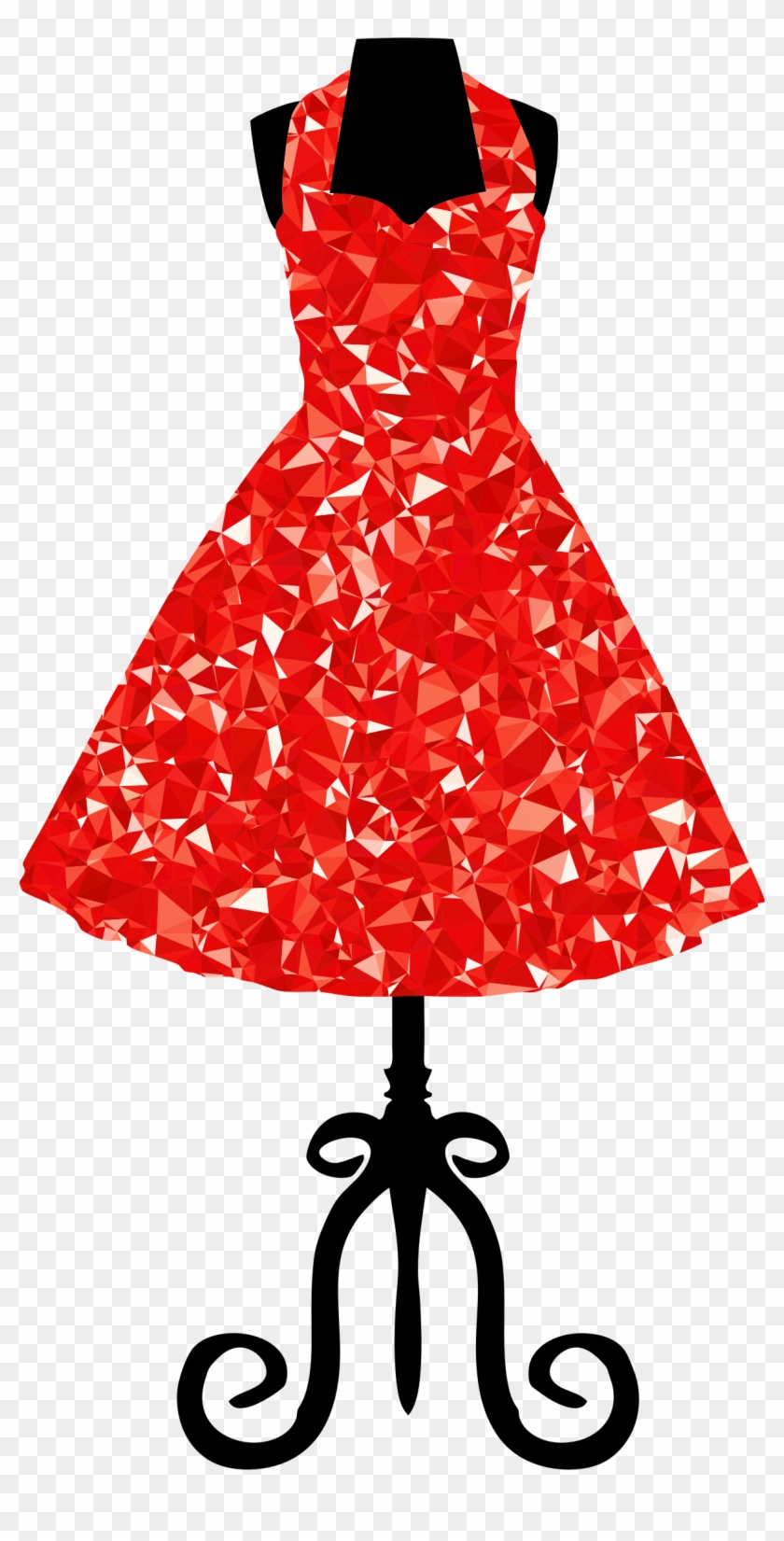 1950s dress on form clipart