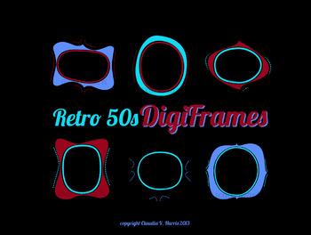 1950s frame clipart png transparent 1950s Digital Frames Clipart, Frame Clipart, Retro Digital Frames png transparent