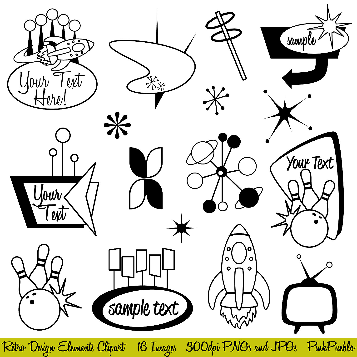 50-s borders clipart