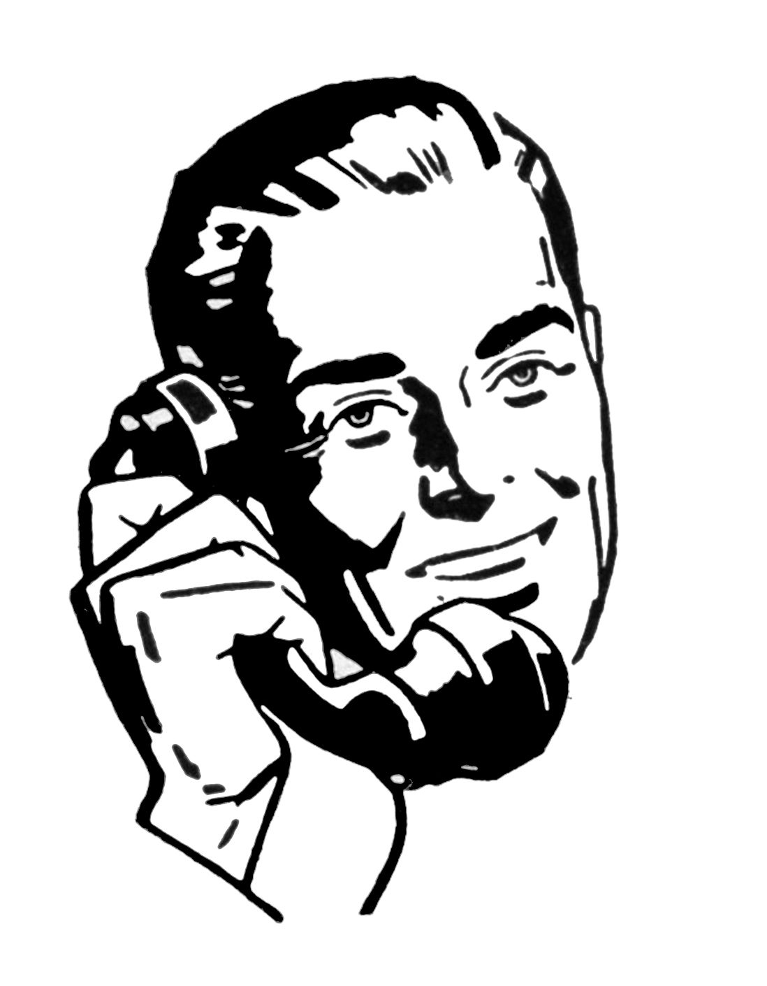 1950-s guy clipart pointing vector library stock 7 Vintage Telephone Images! | Clipart | Retro pictures, Retro ... vector library stock