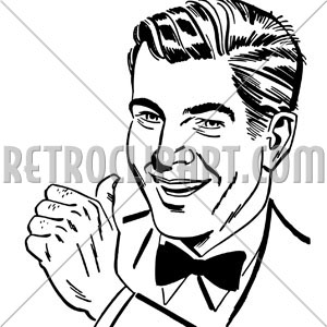 1950-s guy clipart pointing png royalty free download Man With Thumbs Up, RetroClipArt.com png royalty free download