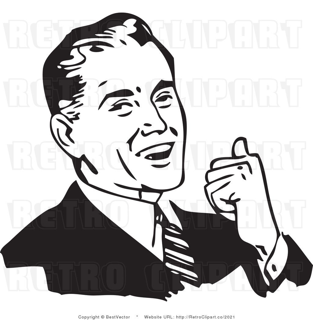 1950-s guy clipart pointing image Smile Clipart Black And White | Clipart Panda - Free Clipart Images ... image