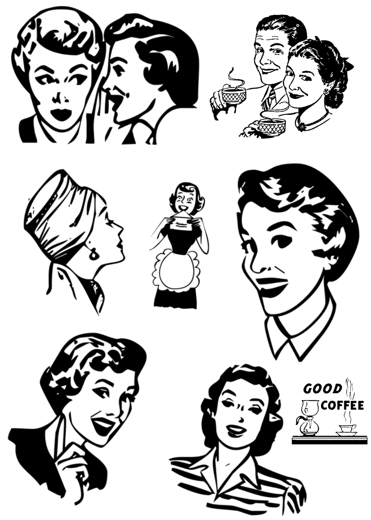 Retro woman clipart free clip transparent Free Retro 50s Cliparts, Download Free Clip Art, Free Clip Art on ... clip transparent